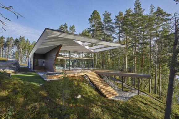 Дом-волна (Wave House) в Финляндии от Seppo Mantyla.