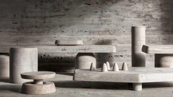 Мебель из итальянского известняка