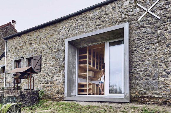 Дом из амбара во Франции