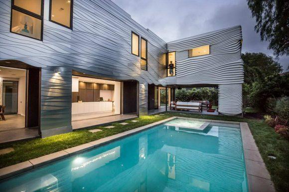 Волнистый дом в алюминии в США