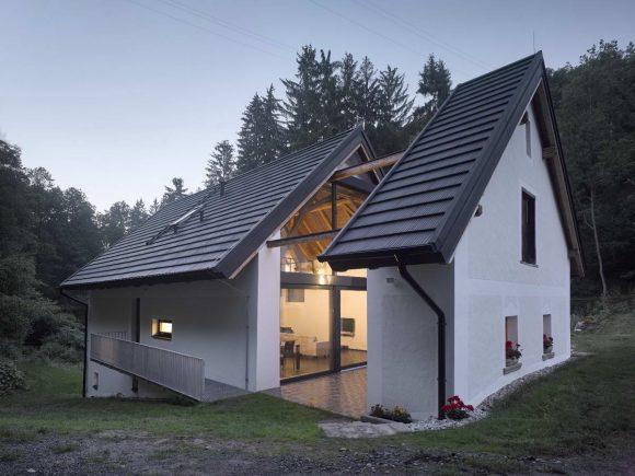 Реконструкция мельницы в Чехии от Stempel & Tesar architekti.