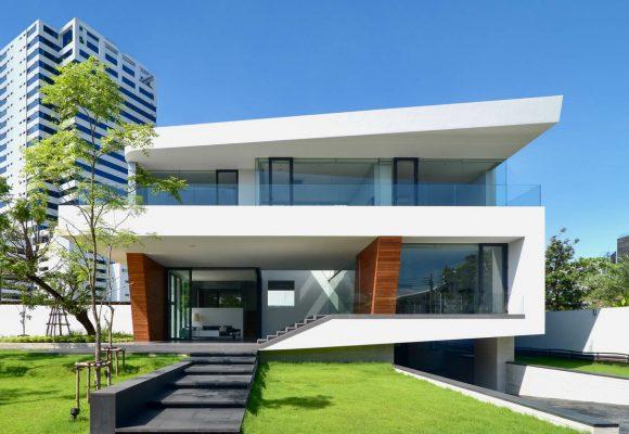 Дом-водопад в Таиланде от Architects49 House Design.