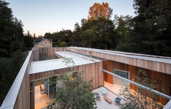 Дом без крыши в США от Craig Steely Architecture.