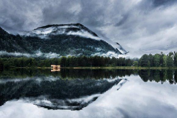 Сауна на озере