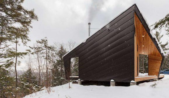 Домик на скале в США от I-Kanda Architects.