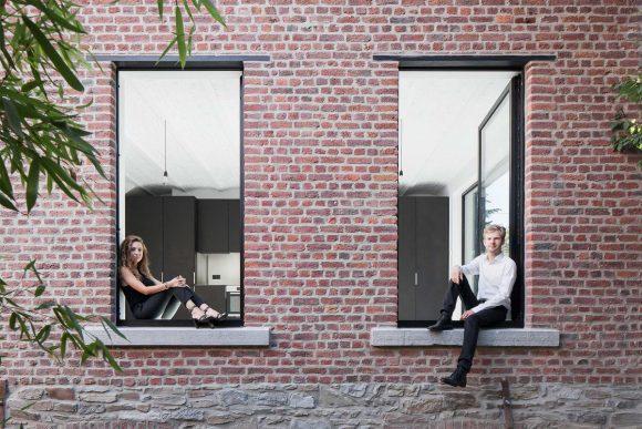Кирпичный дом в Бельгии