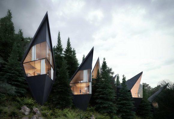 Домик на дереве в Италии от Peter Pichler Architecture.
