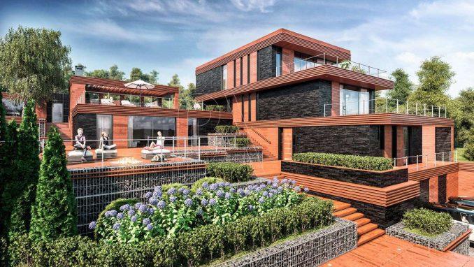 Проект модернистского дома на склоне, Архитектурная мастерская BOOS architects.