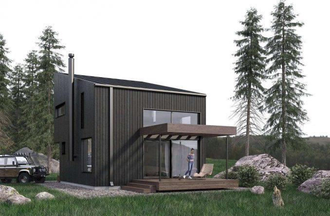Проект типового минималистского домика, Архитектурное бюро «КУБИКУЛА».