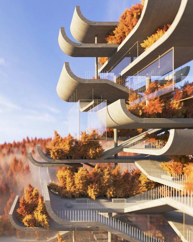Нереальная архитектура: модернистский взгляд на пагоду