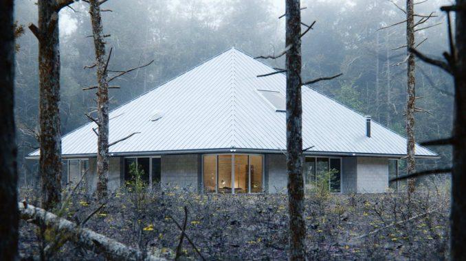 Простой дом из девяти квадратов с шатровой крышей - мой совет