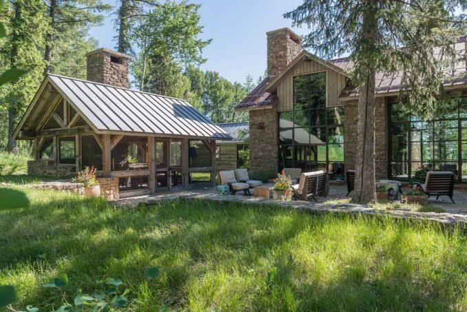 Очень американский лесной дом-мечта