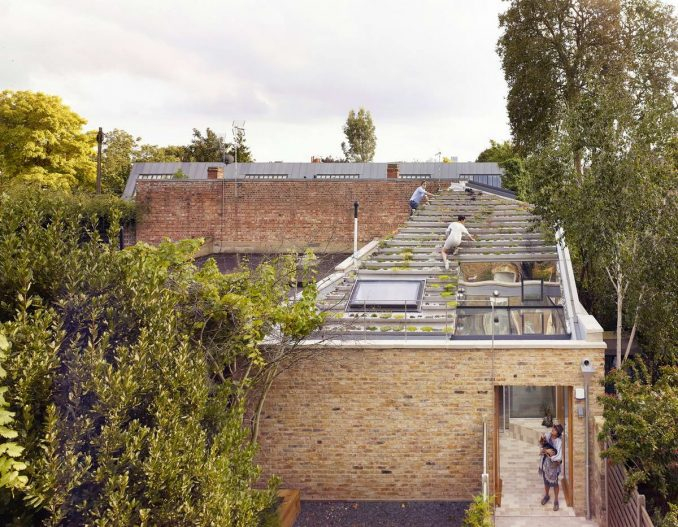 Дом с огородом на крыше