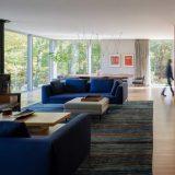 Простой лесной дом в США - Интерьер