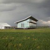 Стеклянный дом посреди поля - Отделка